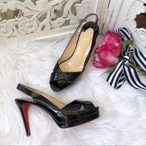 Christian Louboutin Patent Leather Slingback Heels